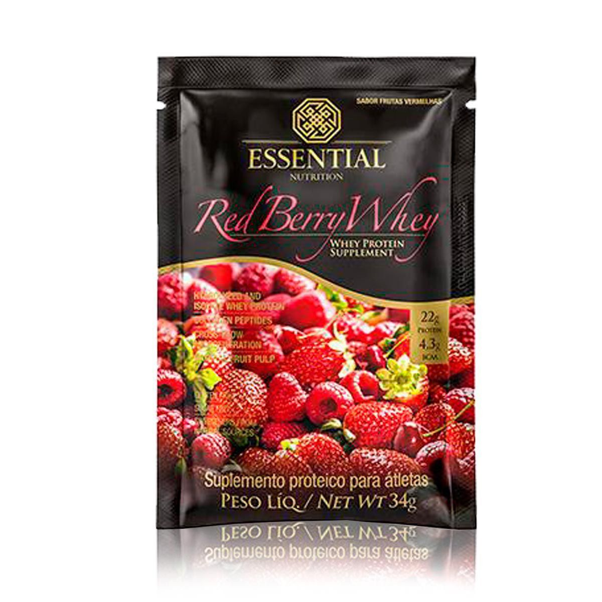 Red Berry Whey Sachê Essential Nutrition