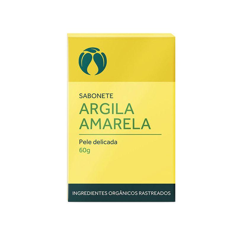 Sabonete Argila Amarela para Pele Delicada Orgânico Natural Vegano 60g
