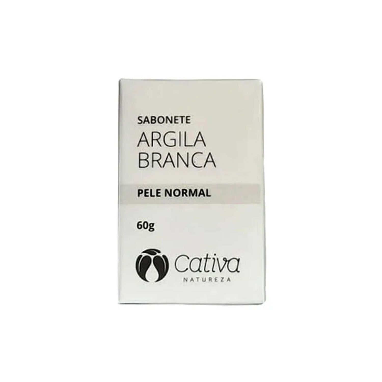 Sabonete Argila Branca para Pele Normal Orgânico Natural Vegano 60g