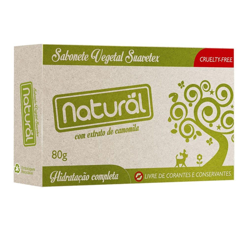 Sabonete Orgânico Natural com Extrato de Camomila 80g Suavetex
