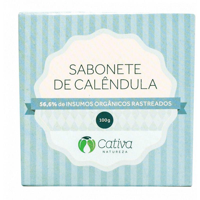 Sabonete Vegetal de Calêndula Natural Orgânico Vegano 100g