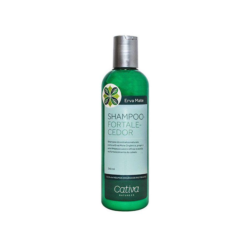 Shampoo Fortalecedor Erva Mate com Guanxuma e Gengibre Orgânico Natural Vegano 240ml