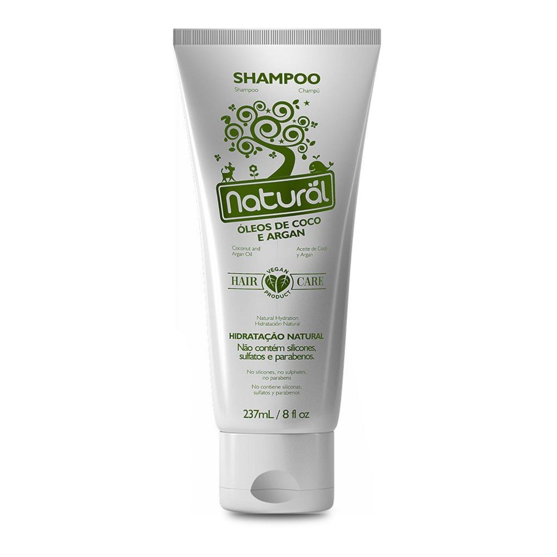 Shampoo Orgânico Natural com Óleos de Coco e Argan 237ml Suavetex