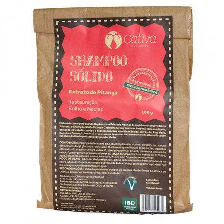 Shampoo Sólido de Pitanga Orgânico Natural Vegano 100g