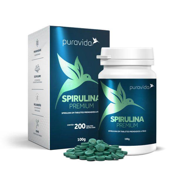 Spirulina Premium 200 Tabletes Puravida