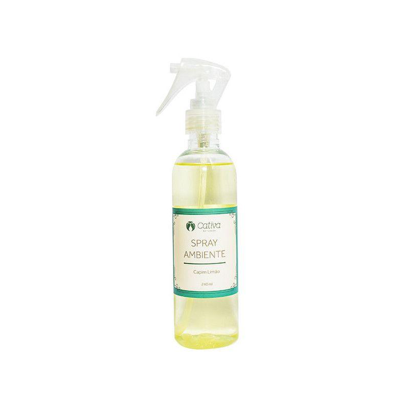 Spray para Ambiente Capim Limão Orgânico Natural Vegano 240ml