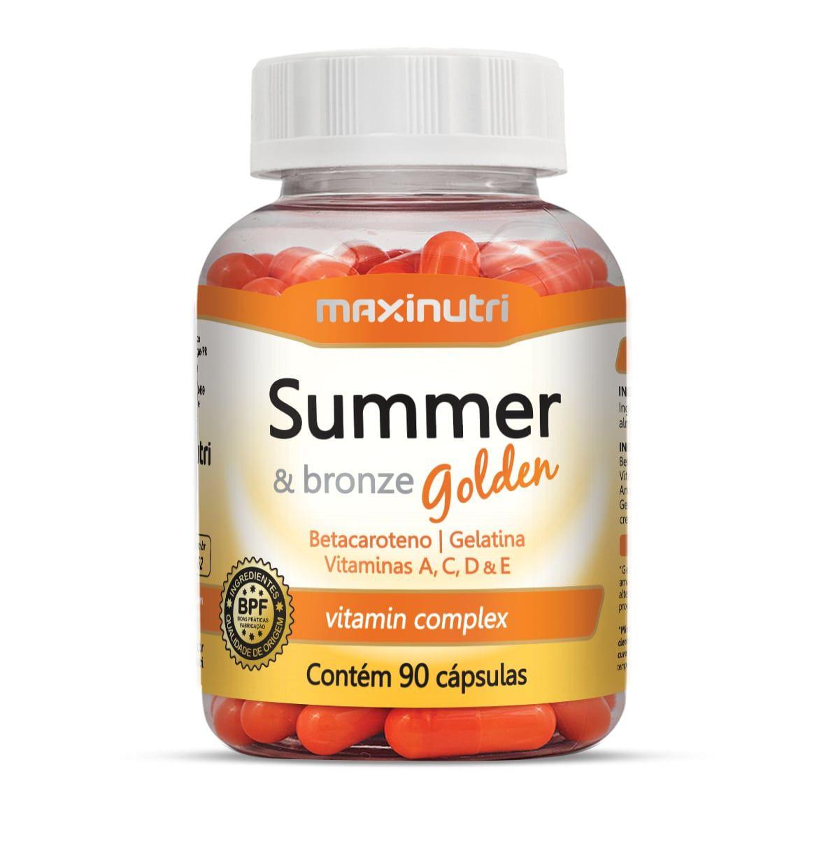 Summer & Bronze Golden 90 Cápsulas Maxinutri