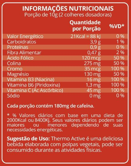 Thermo Active 250g Maxinutri