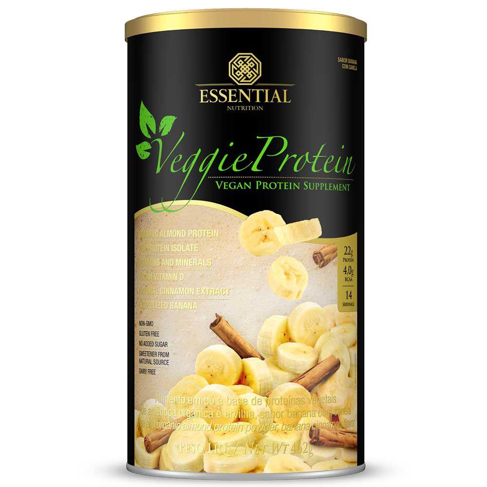 Veggie Protein 450g Banana com Canela Essential Nutrition