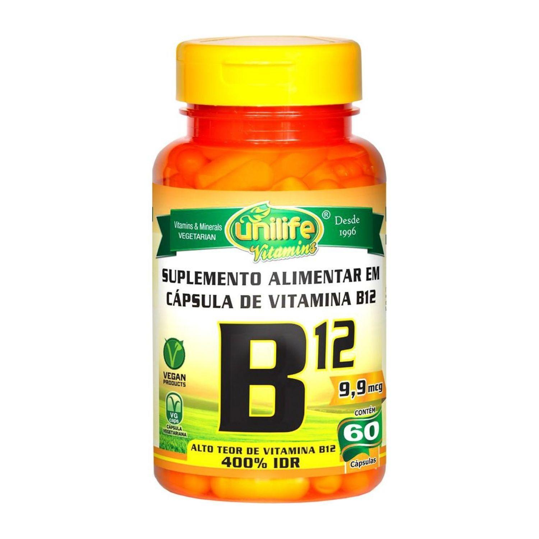 Vitamina B12 60 Cápsulas Unilife
