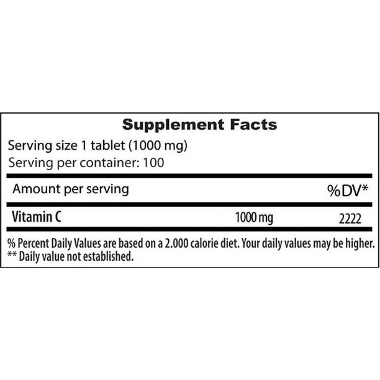 Vitamina C 1000 Under Labz 1000mg 100 Tabletes