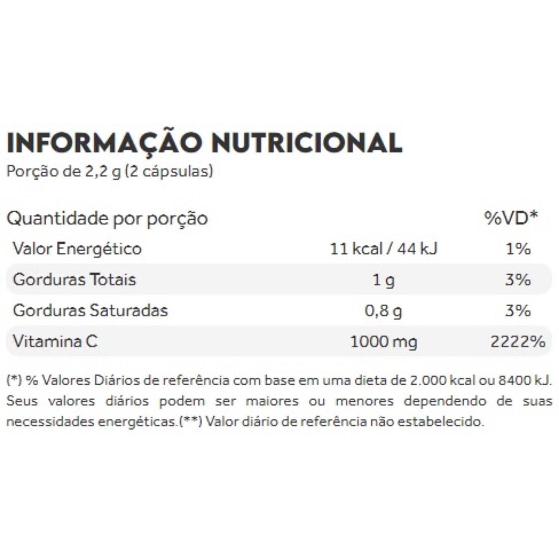 Vitamina C Lipossomal 1100mg 60 Cápsulas Puravida