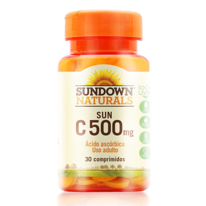 Vitamina C Pure 500mg 30 Cápsulas Sundown Naturals