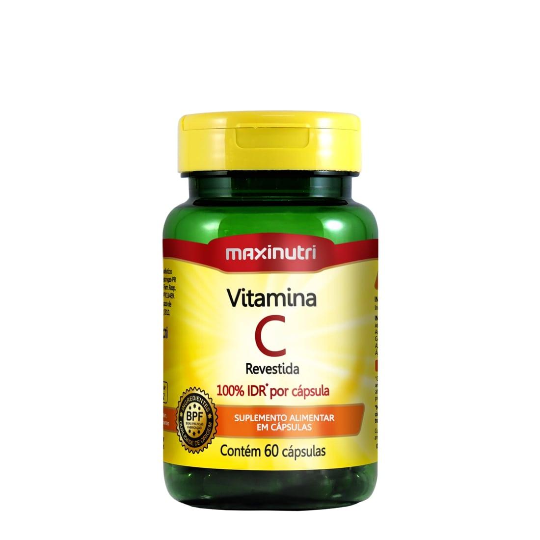 Vitamina C Revestida 60 Cápsulas Maxinutri