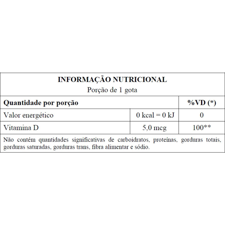 Vitamina D3 200UI em Gotas 20ml Unilife