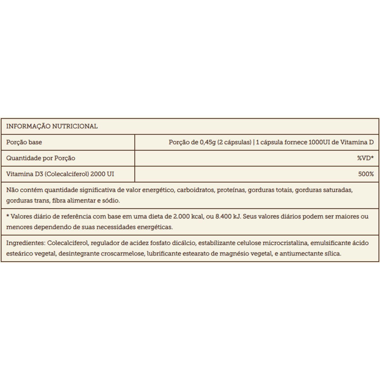Vitamina D 2000UI 200 Cápsulas Sundown Naturals