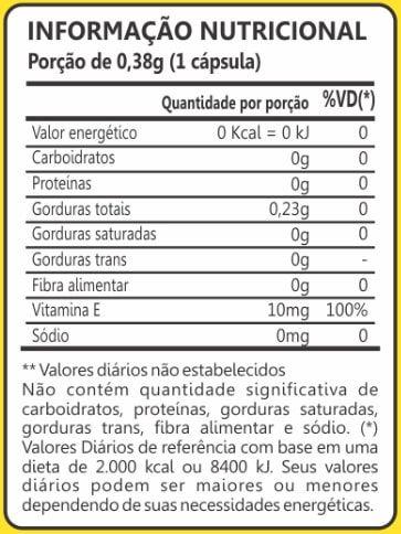 Vitamina E 10mg 60 Cápsulas Maxinutri
