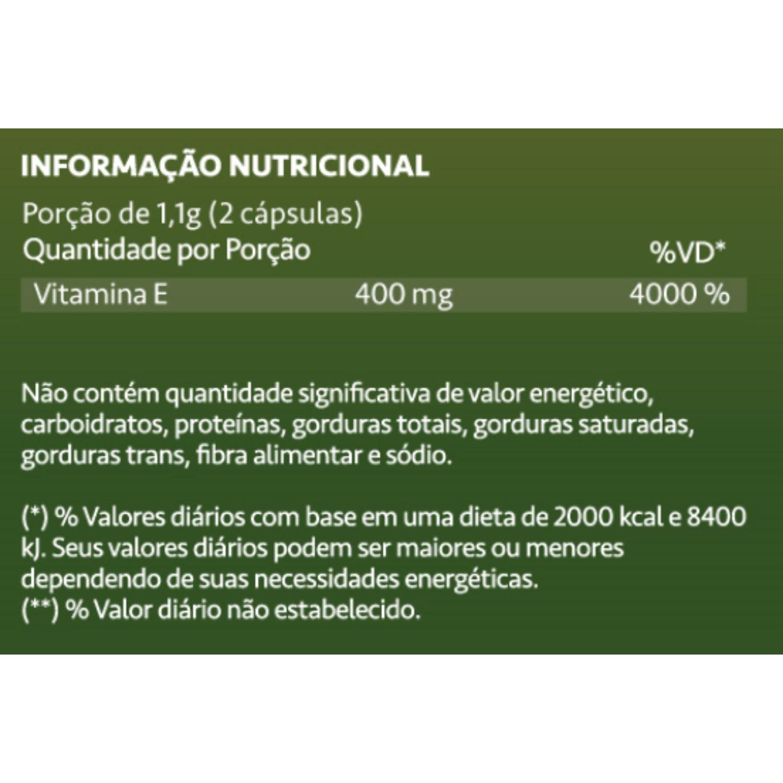 Vitamina E 400mg 60 Cápsulas Maxinutri
