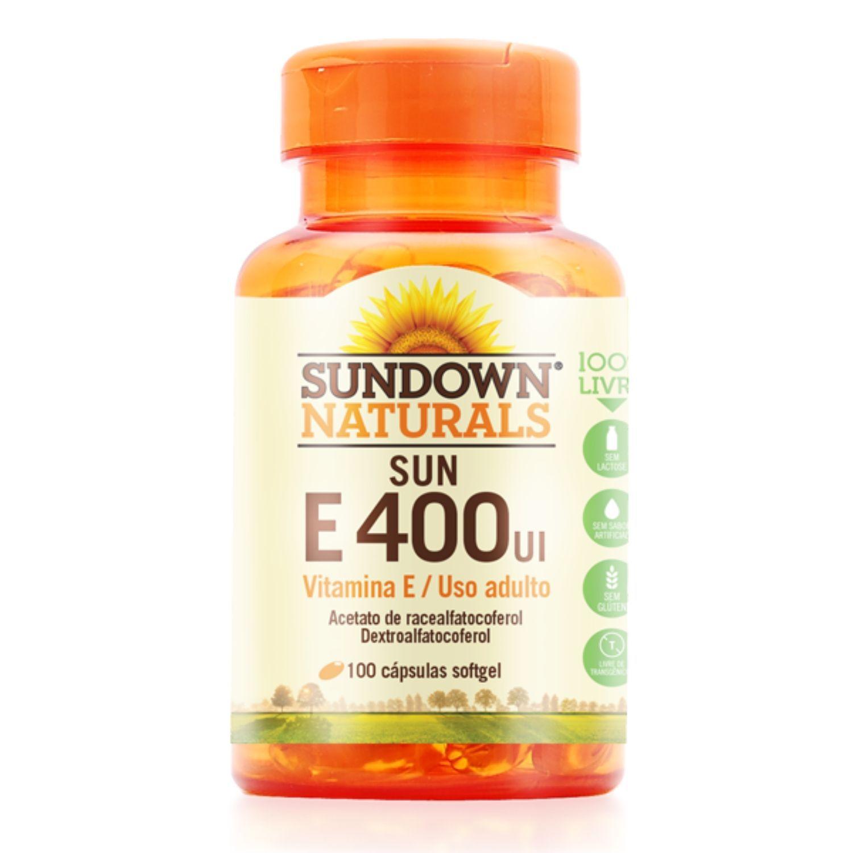 Vitamina E 400UI 100 Cápsulas Sundown Naturals