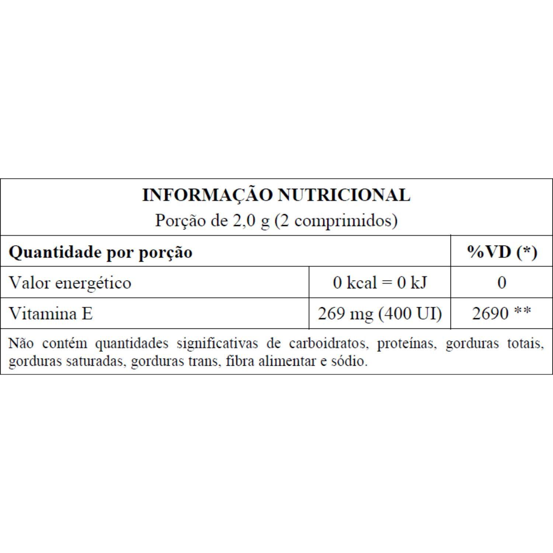 Vitamina E 400UI Tocoferol 60 Cápsulas Unilife
