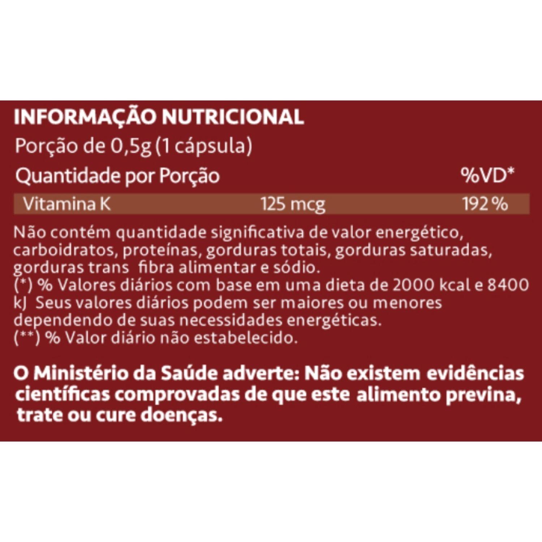 Vitamina K2 MenaquinGold 60 Cápsulas Maxinutri