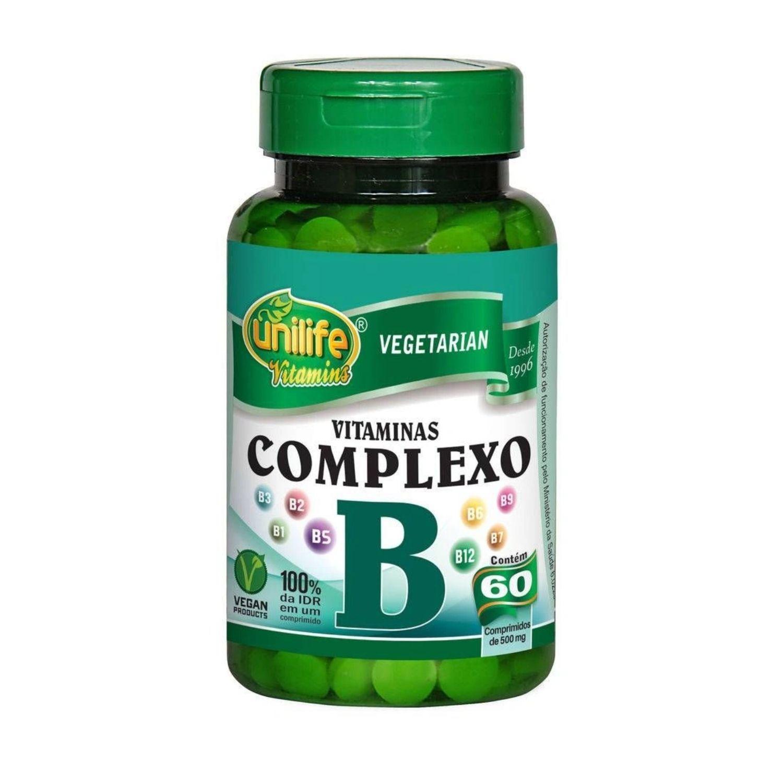 Vitaminas Complexo B 60 Cápsulas Unilife