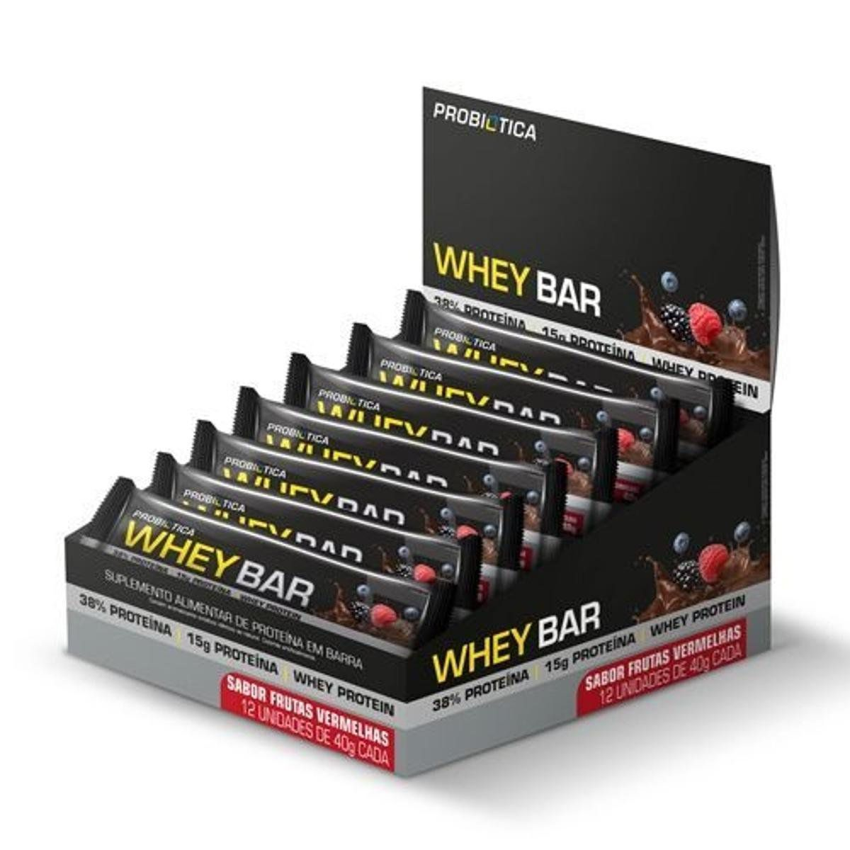 Whey Bar 12 Unidades Probiótica