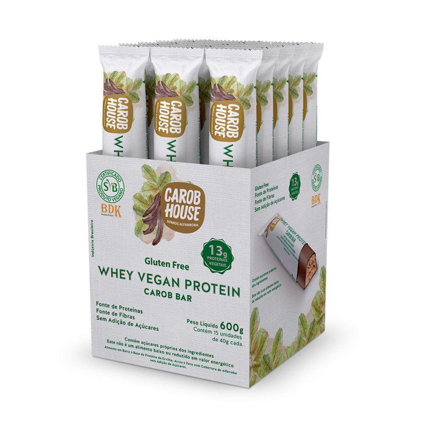 Whey Vegan Protein 40g 15 Unidades Carob House
