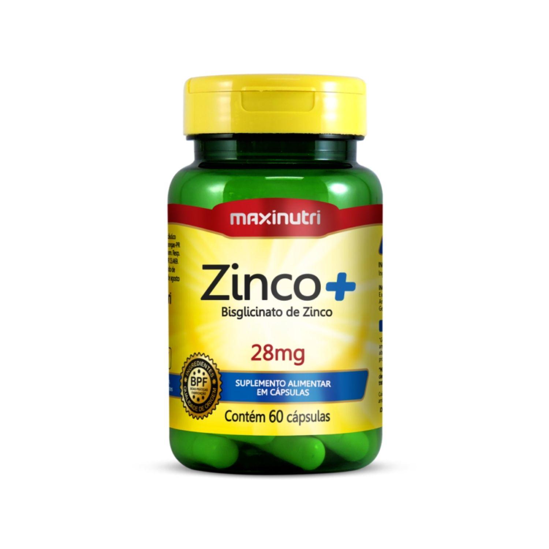 Zinco+ 28mg 60 Cápsulas Maxinutri