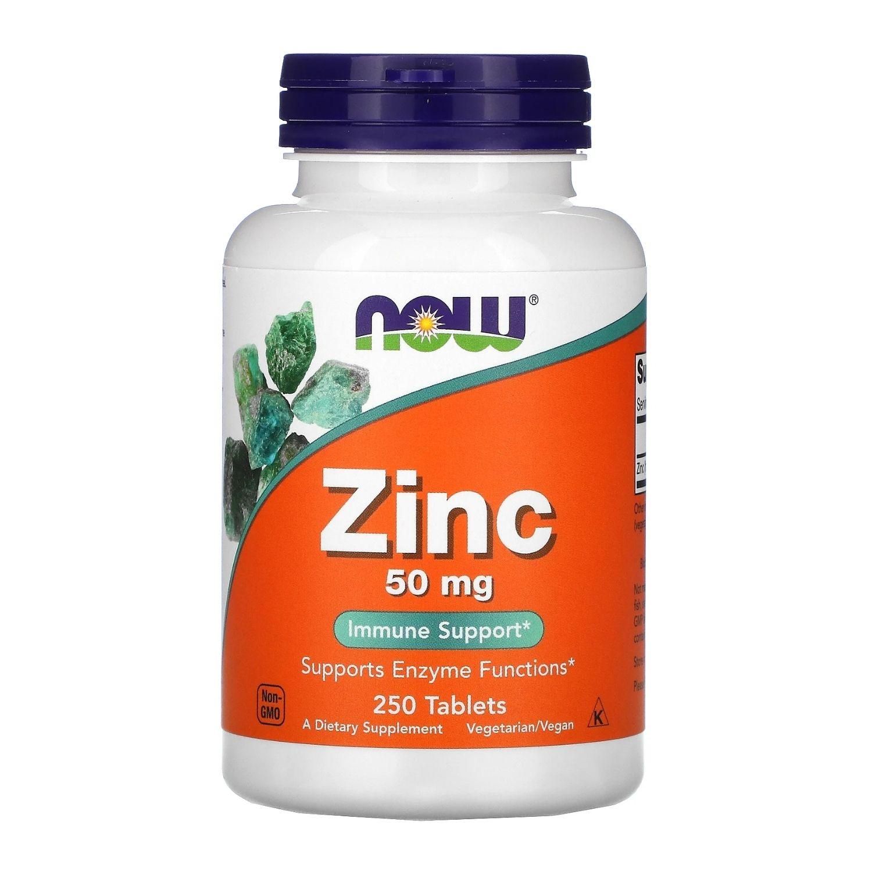 Zinco 50mg 250 Cápsulas Now Foods