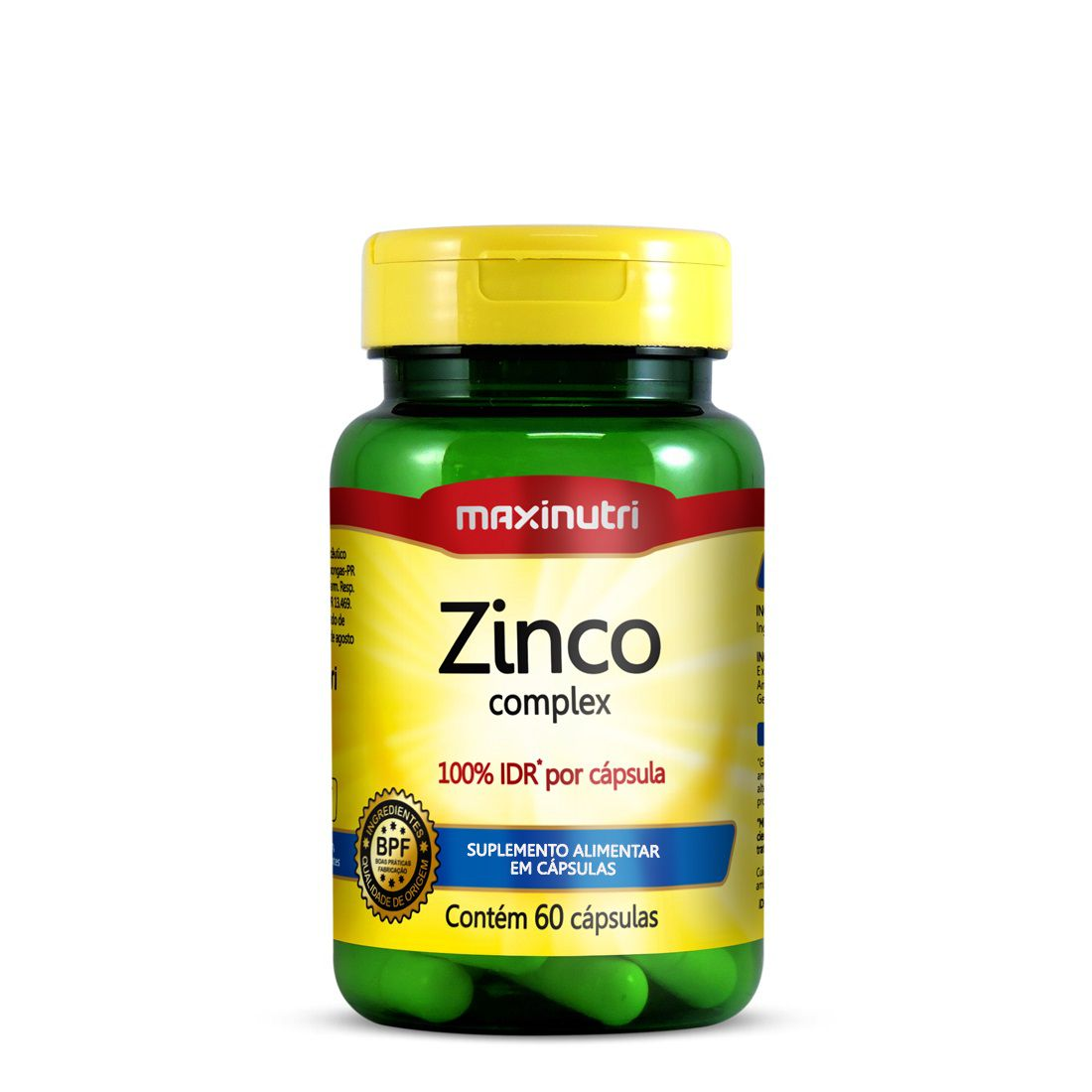 Zinco Complex 60 Cápsulas Maxinutri
