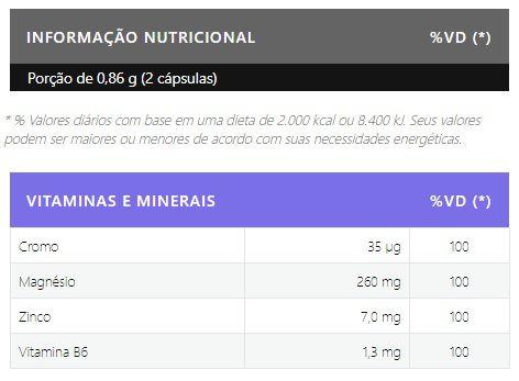 ZMA com Cromo 120 Cápsulas Body Nutry