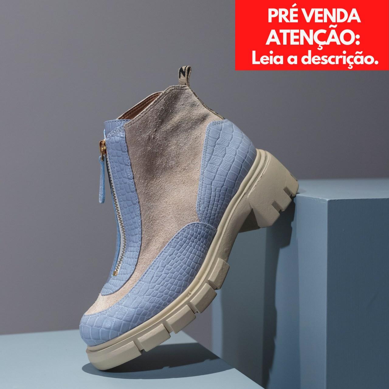BOTA COURO CHERRY AZUL COLORS VICENZA *** PRÉ VENDA *** DATA PREVISTA DE ENVIO 12/07