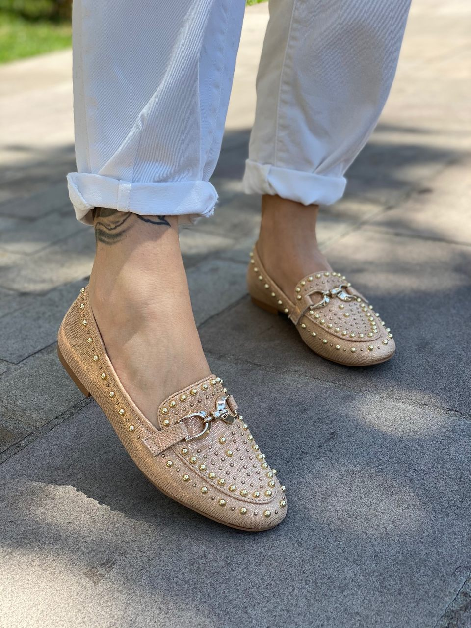 LOAFER COURO SNAKE GOLD VICENZA