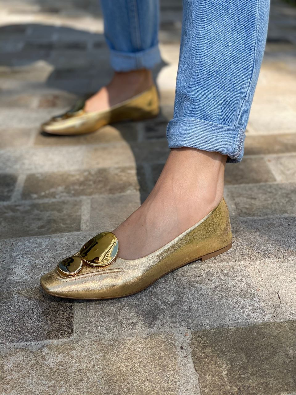 LOAFER CRISTAL GOLD VICENZA