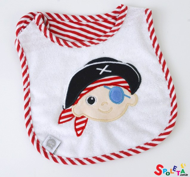 Babador Impermeável Pirata Zip