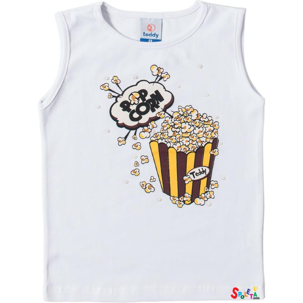 Blusa Infantil Feminina Regata Cotton Popcorn