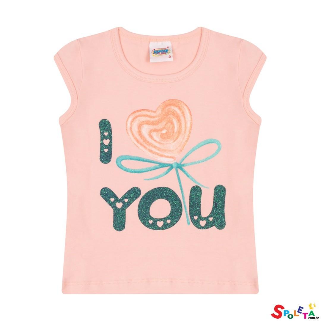 Blusa Infantil Regata Feminina Love