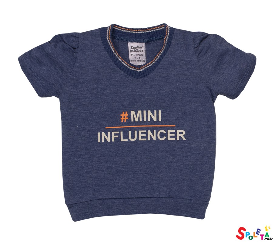 Blusa Infantil Feminina Mini Influencer