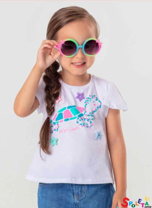 Blusa Infantil Feminina Verão Mon Sucré