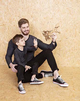 Blusa Listrada Masculina - Pai e Filho