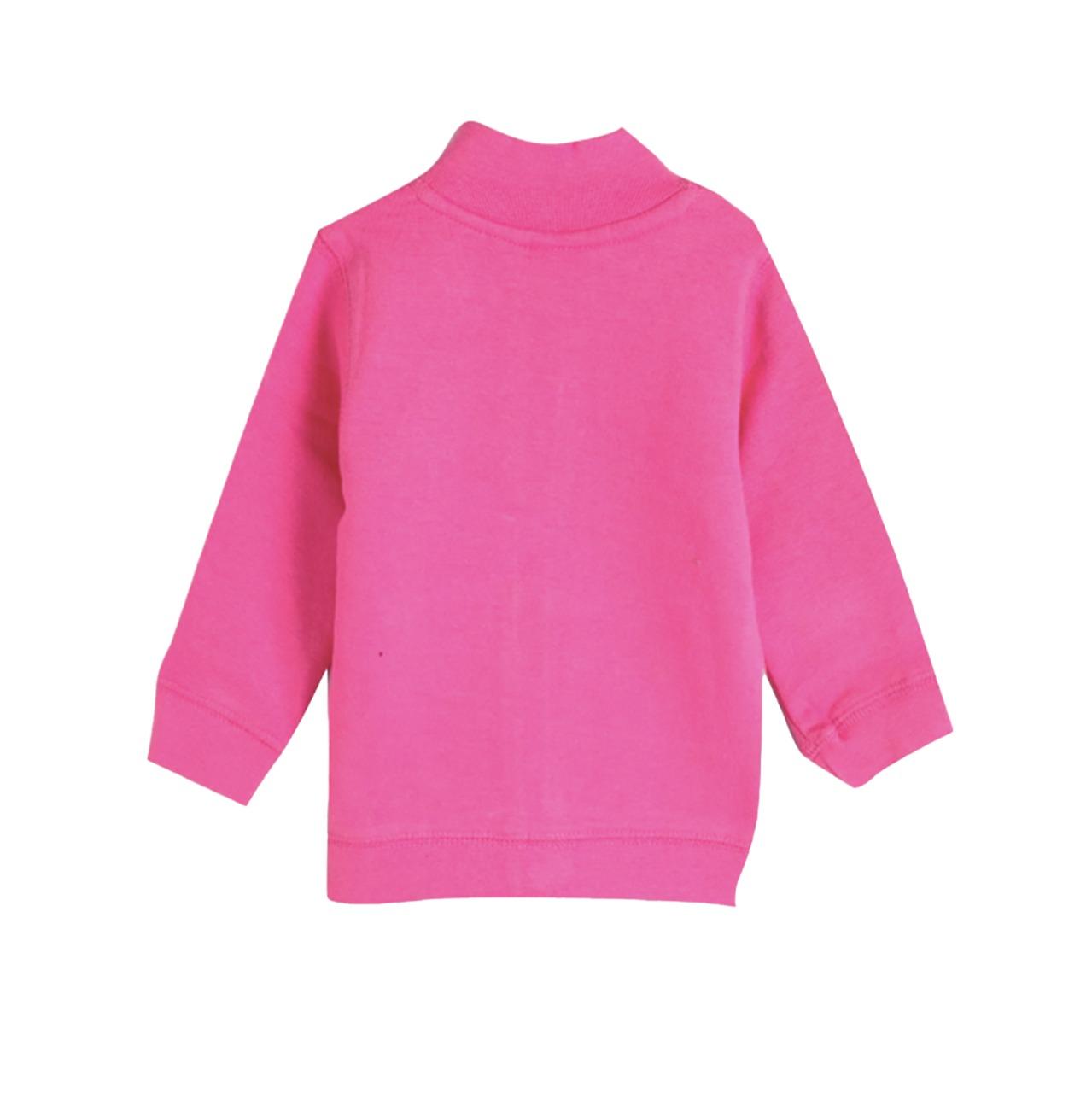 Blusão Inverno Infantil Sem Capuz com Zíper