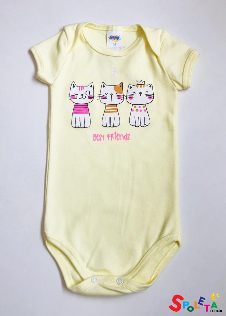 Body Infantil Feminino Cats Friends