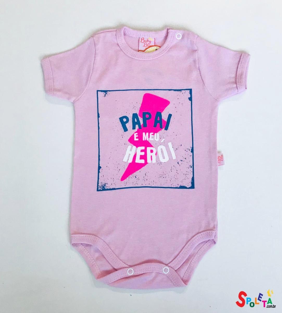 Body Bebê com frase Papai Herói