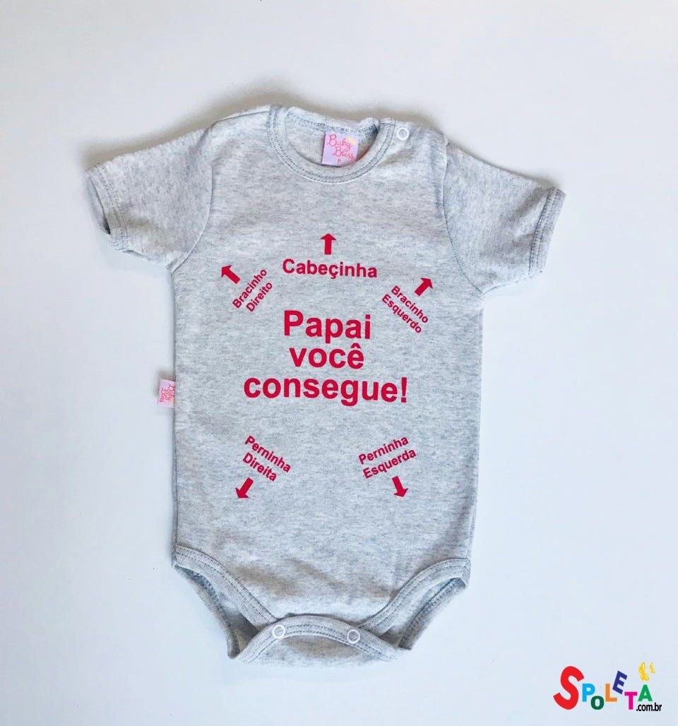 Body Infantil Unissex Papai Consegue
