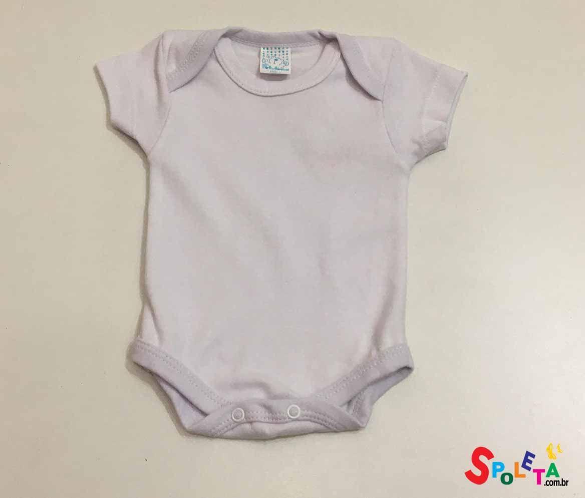 Body Bebê Manga Curta Branco Unissex