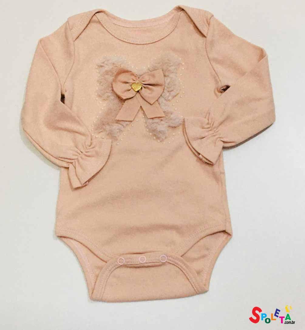 Body Manga Longa Rose - Infanti