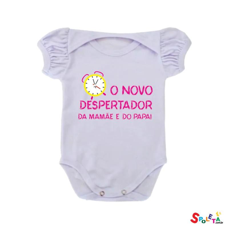 Body Feminino Spoleta O Novo Despertador da Mamãe e do Papai