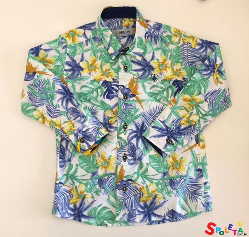 Camisa Infantil Masculina Floral