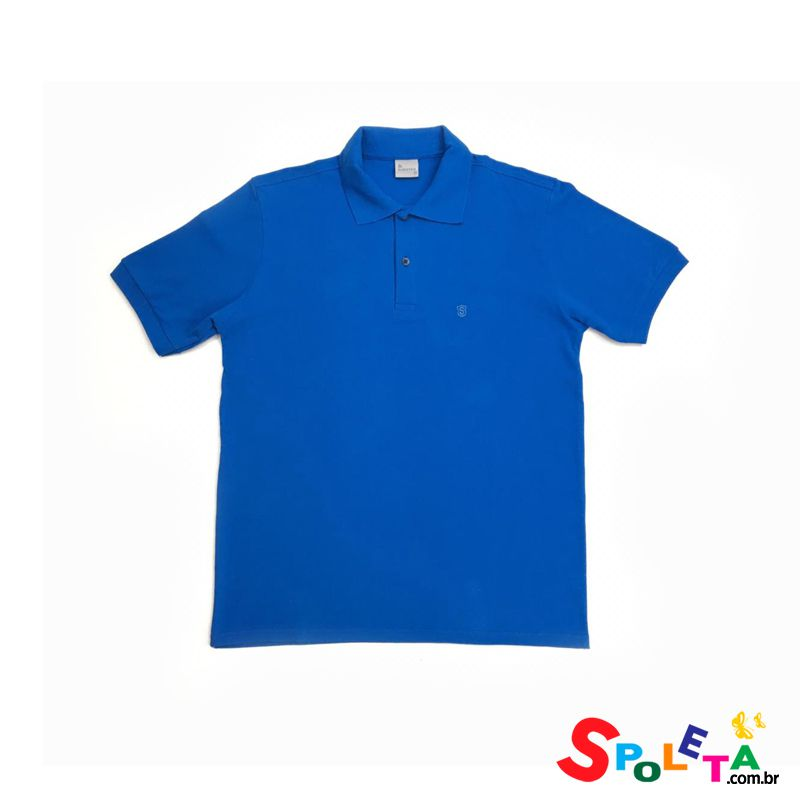 Camisa Polo Lisa Azul - Sudotex